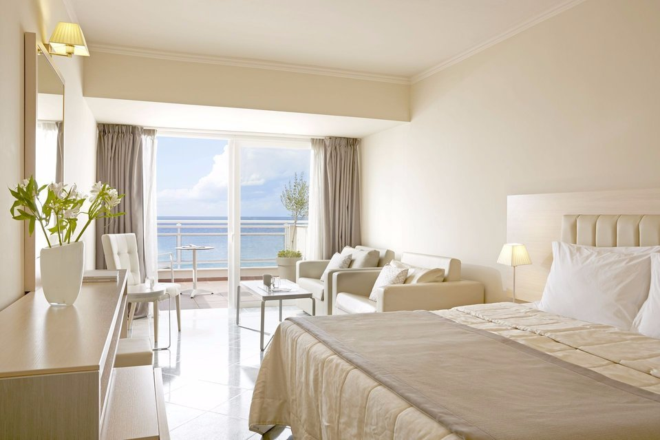 Elegant and modern design with a panoramic sea view at your room.