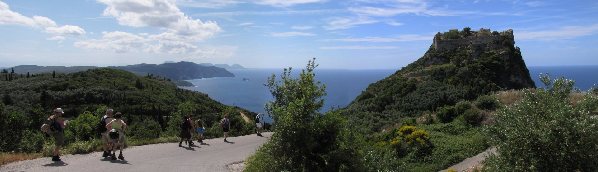 Hiking route in Corfu