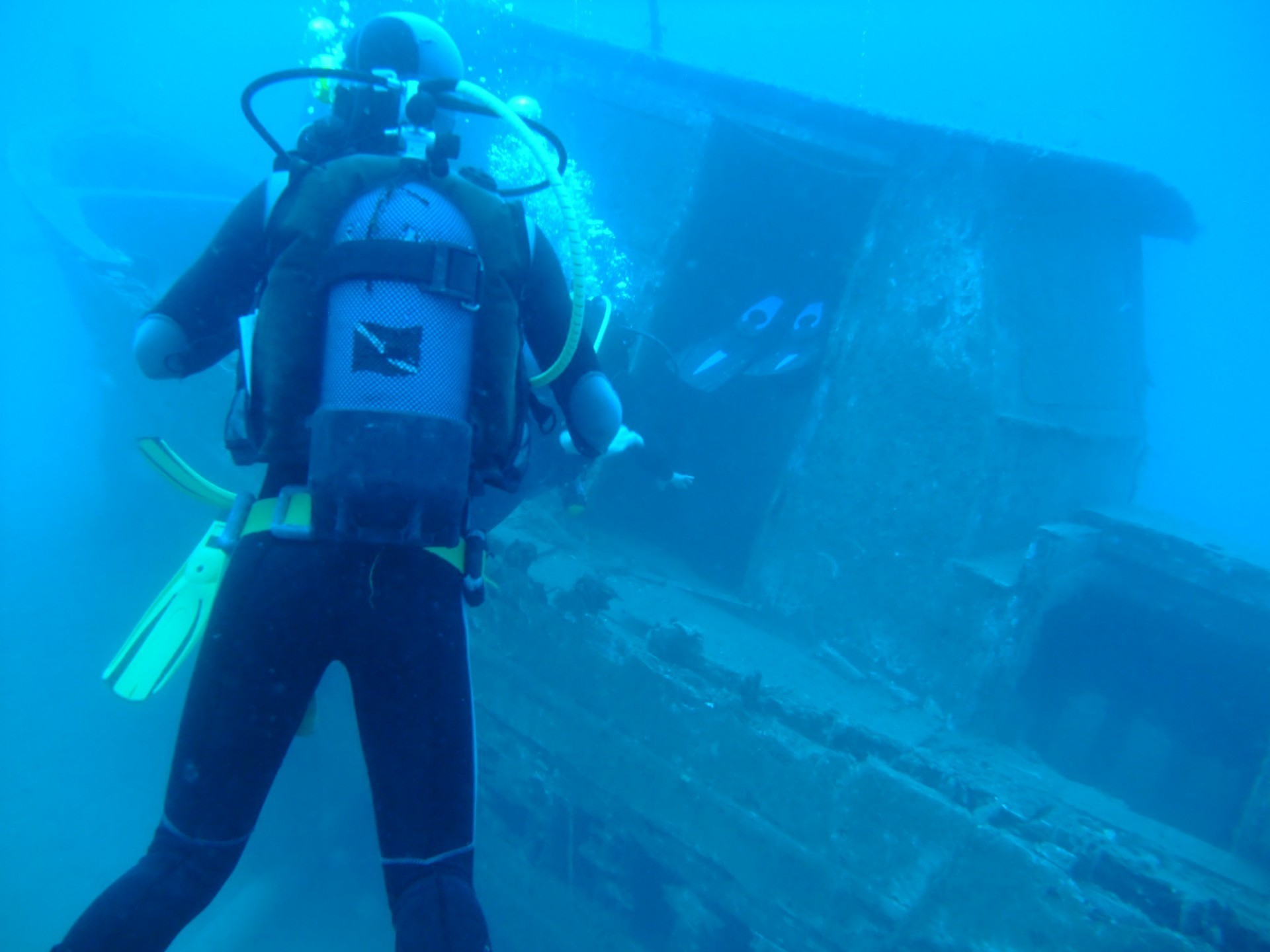 Shipwreck dive in Corfu