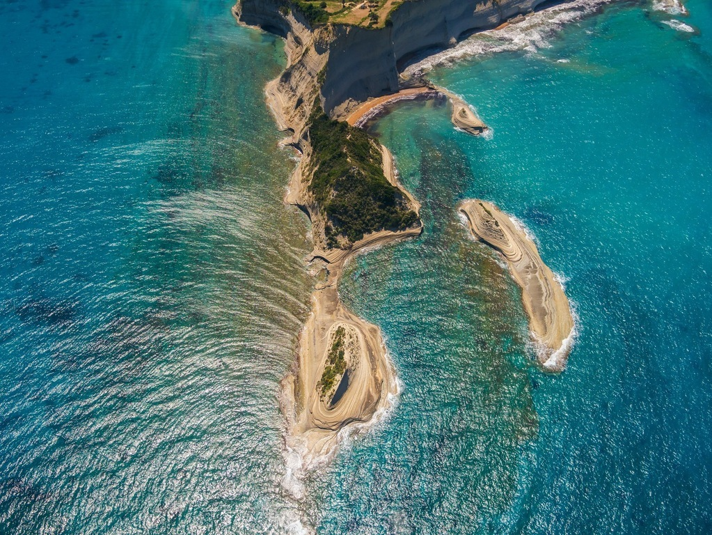 Aerial-view-on-Sidari-in-Corfu